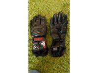 Black Akito motorcycle gloves xxs/6