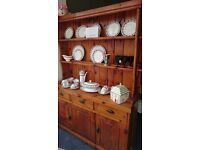 Antique Handmade Pine Irish Dresser