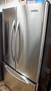 WORKING KITCHEN AID STAINLESS COUNTER DEPTH 36 INCH WIDE FRIDGE