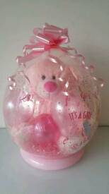 "its a girl 18"" baby stuffed balloon teddy gift present new born baby"