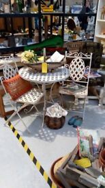 Vintage style garden table and chairs