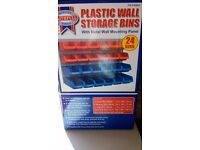 Faithfull Plastic Wall Storage Bins BNIB