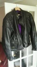 Scott leathers biker jacket