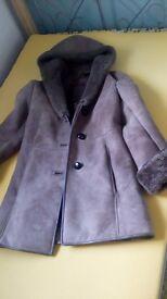 Ladies Nurseys sheepskin coat,,size 10