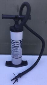 Heavy duty stirrup pump for inflatables air bed etc