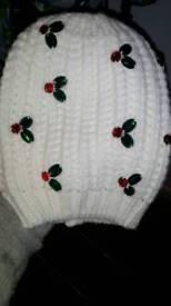 3-6 years girls xmas hat