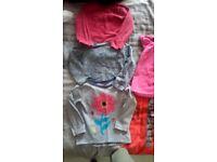 Girls 3x long sleeved 1x short tops 2-3 years