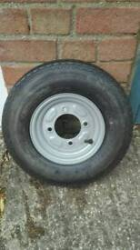 Small trailer wheel, brand new never been used!
