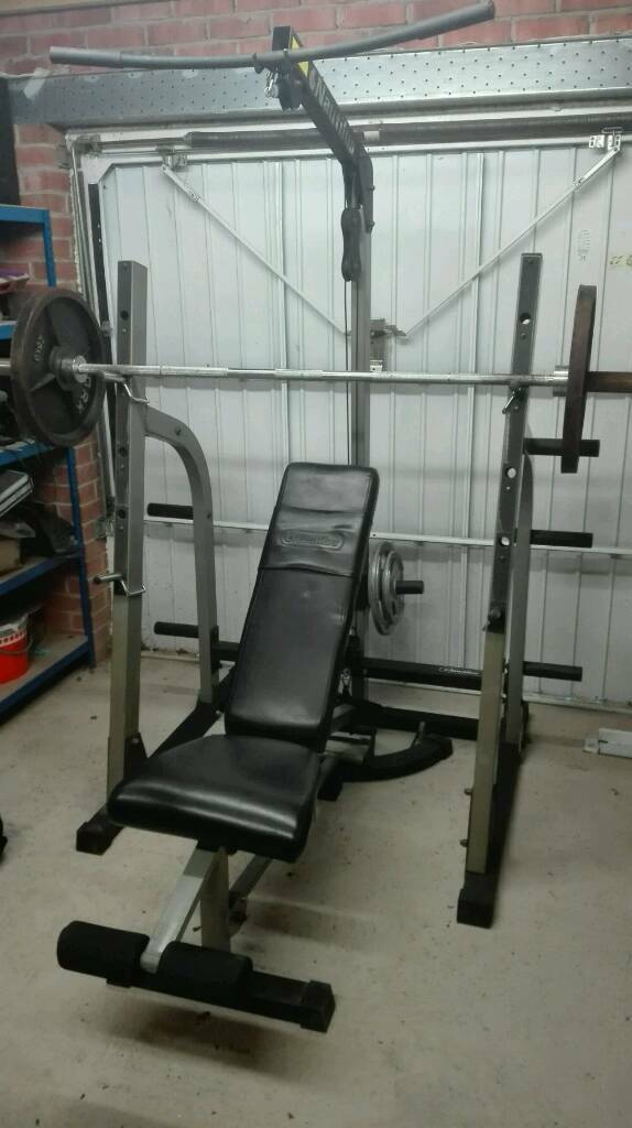 Nautilus Power Rack With Lat Tower High Amp Low Pulley Plus Bench And Weights In Barnsley South