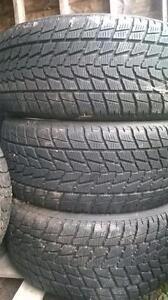 Three like new Toyo 285 45 19 winter tires.