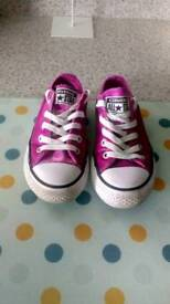 REDUCED Girls size 10 converse shoes