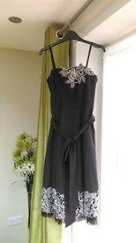 """DEBUT"" Designer Dress - Size 8 - Pewter - Wedding, Party, Bridesmaid, Cocktail dress"