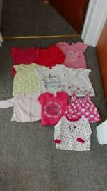 3-6 Months Girls top bundle of 10 items!