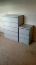 Chest drawers and bed side cabinet