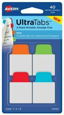 Avery Ultra Tabs 1 X 1.5 2-side Writable Redblueorange 40 Tabs 74760