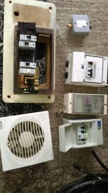 electric mains fuse board trip RCD building Use garage extension