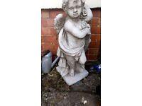 Angel stone garden ornament
