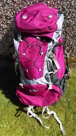 Rucksack - Sherpa Vango 60 includes rain cover and separate sleeping bag