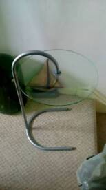 Small glass/chrome table