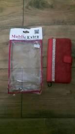 Microsoft Lumia650 Red Leather Effect Phonecsse