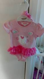 M&Co 6-9 months outfit with headband
