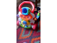 Free baby walker, to go this weekend. Working with batteries