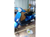 vespa lx 50cc blue only 5000 miles
