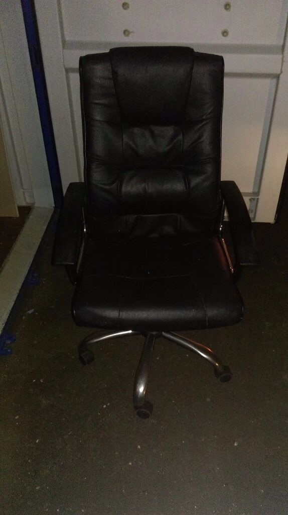 Quality Leather Office Chair / Desk Chair / Bedroom Chair