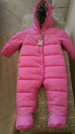 joules pink 9-12 month snowsuit