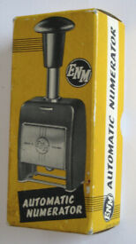 UNUSED Vintage 1960's ENM Automatic Numerator, Model 4513 in original box