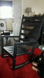 Black Ikea rocking chair