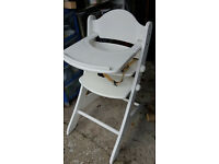 High Chair Geuther white wood similar to the Stokke Tripp Trappp