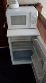 Microwave cooker and fridge