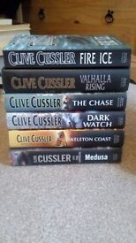 Hardback Clive Cussler and Wilbur Smith books