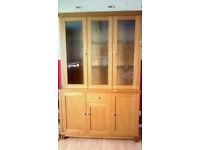 wall unit with display cabinet