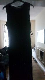 Black Sparkly Cocktail Dress Size 14