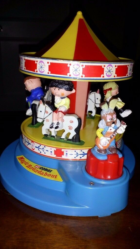 Corgi Magic Roundabout 1970's musical, highly collectable, original box, all figures. Rare toy.