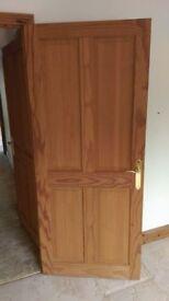 Solid Pine and Half Glazed Pine 4 Panel Internal Doors