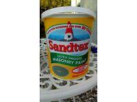 Brand New Unopened Sandtex Exterior Paint Olive Green Masonary