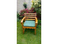 Wooden Garden Chair and Cushion