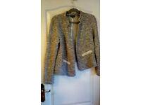 Jacket (warehouse) grey glitter size UK14