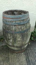 Genuine oak beer barrel