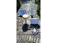 Toilet & Wash hand basin. Victorian high cistern style £50. ono