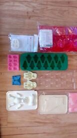 Cake decorating equipment cutters moulds turntable books tins over 180 items job lot bargain