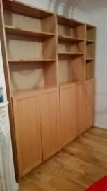 Ikea wooden billy units