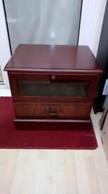Mahogany veneer TV cabinet
