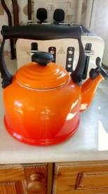 Volcanic orange lecreuset kettle