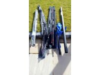 Fishing rods, reels and tackle box lot