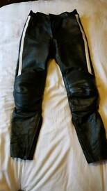 HEIN GERICKE LEATHER MOTORBIKE TROUSERS