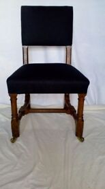 Victorian Gothic oak dining chairs
